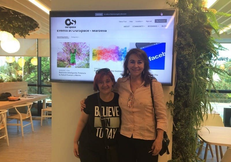 Teresa Floro y Mónica Concellón en Our Space